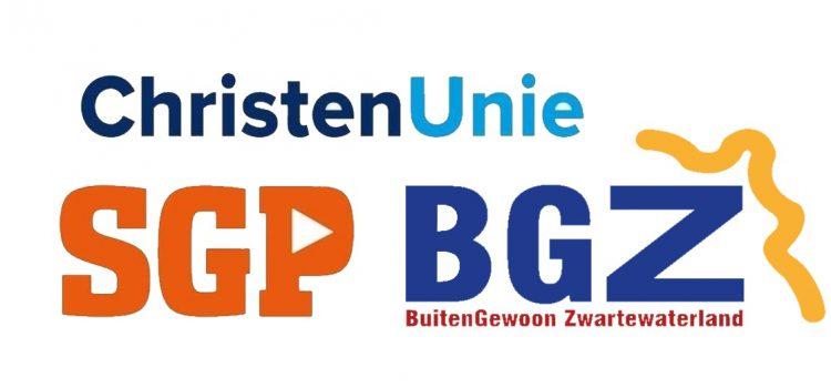 ChristenUnie, SGP en BGZ gaan het samen proberen.