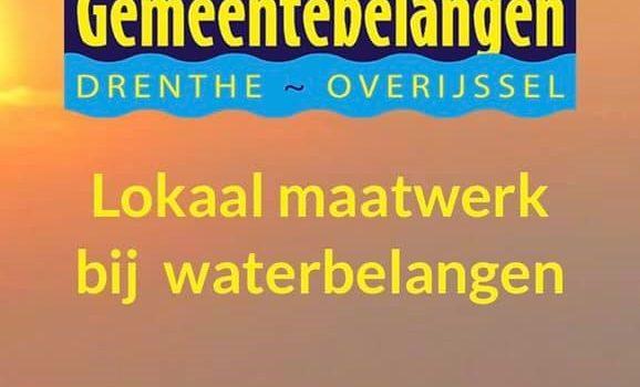 BGZ zet zich óók in voor lokaal maatwerk bij waterbelangen!