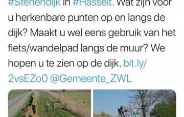 Praat en denk mee over inrichting Stenendijk in Hasselt. (2 & 3 mei 2019)