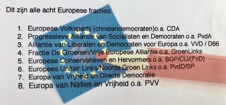 Europese verkiezingen:23 mei 2019